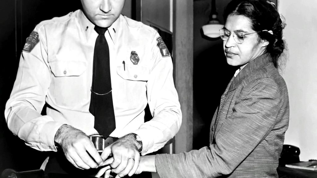 Rosa Parks getting booked