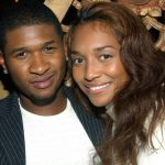 NEW YORK - SEPTEMBER 19: (TABS OUT) Singer Usher (L) and Chili (R) attend the Rosa Cha Post-Show Celebration party hosted by Super Model Naomi Campbell and NC Connect at Man Ray on September 19, 2002 in New York City. (Photo by Mark Mainz/Getty Images)
